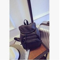 2015 new star of the same paragraph bag backpack campus simple fashion style quality PU leather women bag free shipping