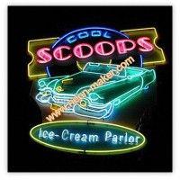 Scoops Neon Sign