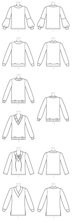 83 Best Commercial Sewing Patterns Suitable For Sweater Knits Images