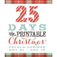 25 days of Printable Christmas - some great Christmas printables here