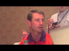 Clemson Coach Dabo Swinney on College Football Playoff College Football Top 25, Football Tops, Clemson, Hands, Rock, Stone, Rock Music, The Rock, Stones