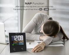Digoo Time Calendar Format Switchable Temperature Humidity Display Dual Alarms Snooze Function NAP LED Backlight Alarm Clock with 2 USB Temperature And Humidity, Take A Nap, Mother And Child, Bars For Home, Home Textile, Alarm Clock, Housekeeping, Baby Kids, Calendar
