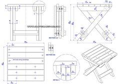 Camping stool plan - Assembly drawing
