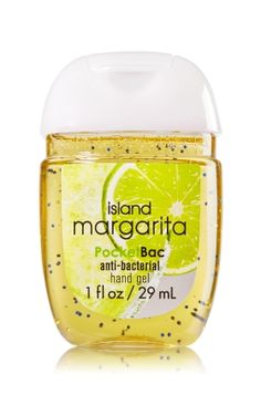 Island Margarita - PocketBac Sanitizing Hand Gel - Bath & Body Works - Now with more happy! NEW PocketBac is perfectly shaped for pockets & purses, making it easy to fight germs on-the-go! Plus, our all-new skin softening formula contains powerful germ-killers that keep your hands clean & soft.