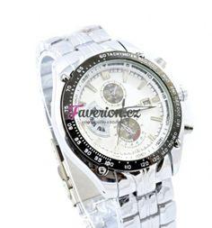 Pánské hodinky s bílým ciferníkem v kvalitním zpracování.