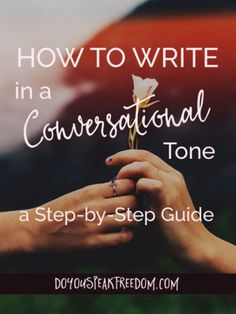 conversational tone essay Why should you consider your voice, tone,  between these two systems is the presence of a conversational  person in an academic essay:.