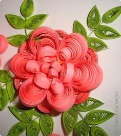 Картина, панно Квиллинг: Розы. Бумага гофрированная, Бумажные полосы. Фото 2