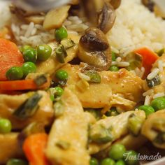 Chicken Stroganoff - Most Popular Vegan Recipes! Slow Cooker Recipes, Cooking Recipes, Healthy Recipes, Delicious Recipes, Tasty Videos, Food Videos, Great Recipes, Dinner Recipes, Favorite Recipes