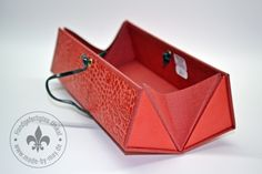 Stiftdosen & Etuis - Stifteetui - Griffelbox rot - ein Designerstück von Made-by-May bei DaWanda