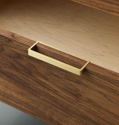 Alice Tacheny Design, Tilde Dresser, brass handle detail - nice drawer pull