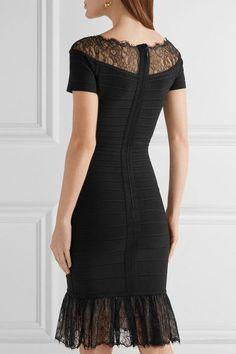 Hervé Léger - Lace-trimmed Bandage Dress - Black - medium