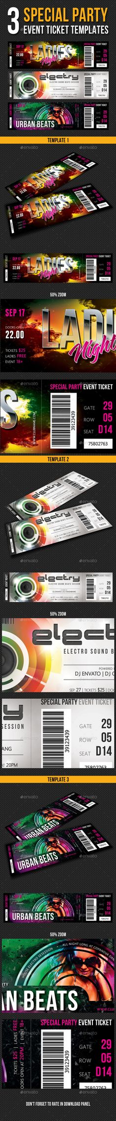 Retro Coupon Coupon and Retro - party tickets templates