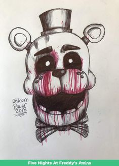 Scary Drawings, Dark Art Drawings, Fnaf Drawings, Fnaf Golden Freddy, Freddy S, Fnaf Coloring Pages, Rick And Morty Stickers, Horror Drawing, Fnaf Wallpapers