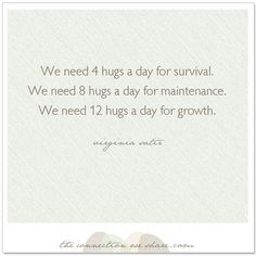 How many hugs do you need a day