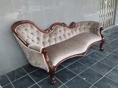 future reupholstery project chaise lounge
