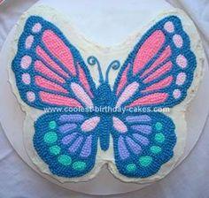 Homemade Beautiful Butterfly Birthday Cake