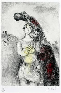 "Marc Chagall, The Anointing of Saul | ""Then Samuel took a vi… 