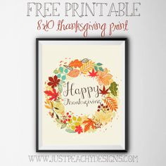 Free Thanksgiving Printable justpeachydesigns.com