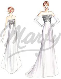 Model S886 | Wedding Dress Sewing Pattern