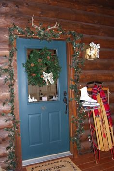 Entrance to a Log Cabin - Stock Image | Country Cabins | Pinterest ...