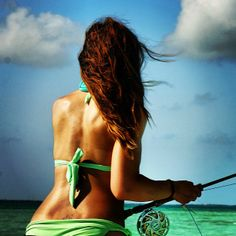 Fishing Girls: The Sexiest on the Net? Our Fishing Chicks Get Better And Better Best Fishing Days, Fly Fishing Girls, Deep Sea Fishing, Gone Fishing, Saltwater Flies, Saltwater Fishing, Fishing Photography, Fishing Pictures, Trucks And Girls
