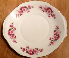 Queen Anne china cake plate. Thrifted
