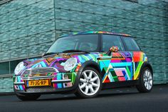 You'd have a hard time missing this kaleidoscopic MINI design, submitted by fan Jan Bonsel.