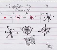 Tangleflake 6 by sheridanwild, via Flickr
