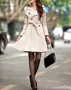 Ivory white Cotton Long Jacket Hood Coat Cape Coat by lsmartmiss, $55.00