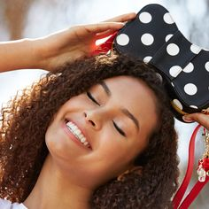 Check out the new Minnie Mouse D/Style collection at the Disney Store | Minnie Mouse bow purse | [ https://style.disney.com/shopping/2016/05/16/mouse-collection-added-to-dstyle/ ]