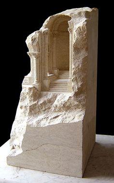 Matthew Simmonds sculptures | Architectural Sculptures | Art | Rock sculptures | Romanesque |Please your curiosity, discover more http://entouragepost.com/trending.html