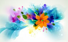 Abstract Floral Art | Abstract Flower Art Desktop Wallpapers and Backgrounds