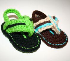 Ravelry: Baby Flip Flops pattern by Hooking Stitch