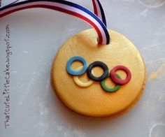 Olympic Gold Medal Cookies- This will be fun to make with or for the kids since the Olympics are coming up!