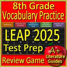2nd grade nwea map test prep reading literature and vocabulary game 8th grade leap 2025 test prep reading vocabulary practice review game fandeluxe Gallery