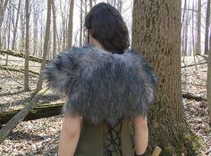 Viking Fur Capelet Mantle Medieval Barbarian Renaissance