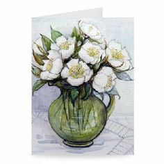 Christmas Roses, 1984 by Gillian Lawson - Greeting Card (Pack of 2) - 7x5 inch - Art247 - Standard Size - Pack Of 2 by Art247. $6.50. This photographic Greeting Card is created on 300gsm FSC approved card. The result - a stunning reproduction at an affordable price. Actual size 7x5 inch.Greeting card comes with high grade white envelope as standard.This is an automated preview only. Actual Greeting Card design may vary. All products are hand finished by our expert...