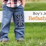 Little Boy Jeans: Refashion (with UK flag)   love this!