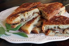 Grilled Fontina, Mushroom and Sage Sandwiches