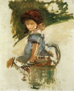 Edouard Manet | Julie Manet Sitting on a Watering Can, 1882 | 100 x 81 cm Oil on canvas Private collection