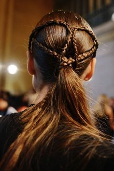 Heart-Shaped Braids from glamour.com - see more of the #Braid #Wedding #Hair Trend at this Pinterest board