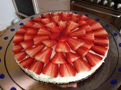Cheesecake med lime og jordbær