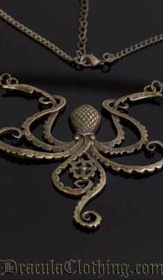 Steampunk octopus necklace. Want.