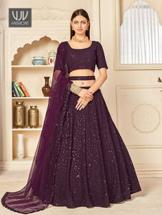 Rs5,600.00 Lehenga Dupatta, Anarkali Suits, Party Wear Lehenga, Saree Shopping, Georgette Fabric, Indian Wedding Outfits, How To Dye Fabric, Formal Dresses, Clothes For Women