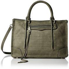 Rebecca Minkoff Regan Satchel Tote Shoulder Bag (20.170 RUB) ❤ liked on Polyvore featuring bags, handbags, rebecca minkoff satchel, shoulder tote bags, zip top tote bags, tote purses and rebecca minkoff handbags