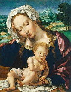 Jan Gossaert or Jan Mabuse (1478-1532) — Madonna and Child (699x900)