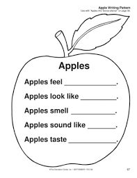 Writing About Apples, Lesson Plans - The Mailbox Preschool Apple Theme, Apple Activities, Preschool Activities, Preschool Apples, Autumn Activities, Preschool Lesson Plans, Kindergarten Worksheets, Art Worksheets, Classroom Themes