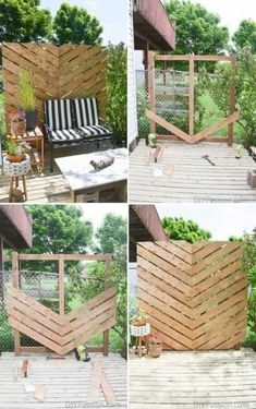 Worth trying 10 DIY Backyard Privacy Screen ideas for you. They are listed neatly, beautiful, organized, and features 10 DIY Backyard Privacy Screen ideas incude a video That you can take to upgrade your backyard or garden privacy. Next, You'll also find Backyard Privacy Screen, Privacy Landscaping, Backyard Fences, Privacy Screens, Patio Fence, Landscaping Ideas, Diy Patio, Backyard Planters, Balcony Garden