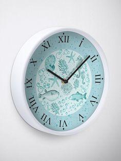 'Sea life' Clock by iRenza Rooms Home Decor, Cheap Home Decor, Home Decor Accessories, Decorative Accessories, Beachy Room, Nautical Clocks, Cute Clock, Beach Gifts, Online Gift Shop