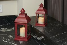 Bristol Red Candle Lanterns #RedLantern #SmartLiving #CandleLantern #RedCandleLantern #IndoorDecor #OutdoorDecor #HolidayDecor